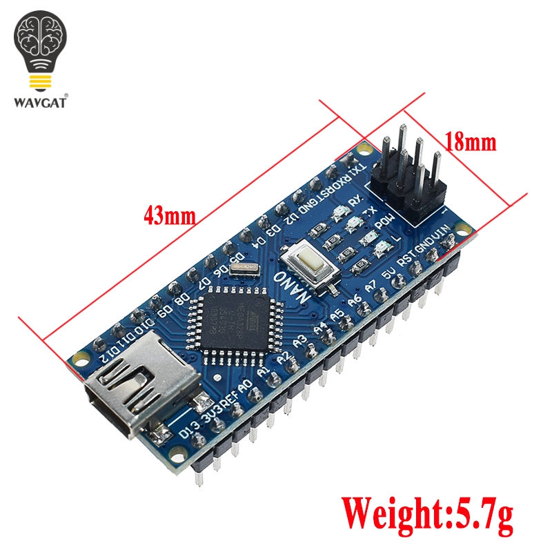 WAVGAT продвижение Arduino ардуино Nano 3,0 Atmega328 контроллер Совместимость совета для Arduino модуль PCB развитию без USB