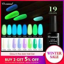 Vrenmol 1pcs Glow In The Dark Gel Varnish UV Nail G