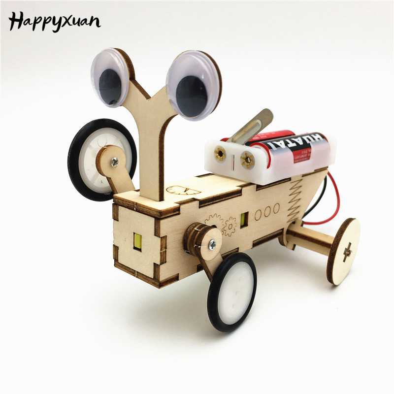 Happyxuan Robot Construction Set Electric Educational STEM Toys Montessori Kids DIY Science Project Kit Technological Inventions