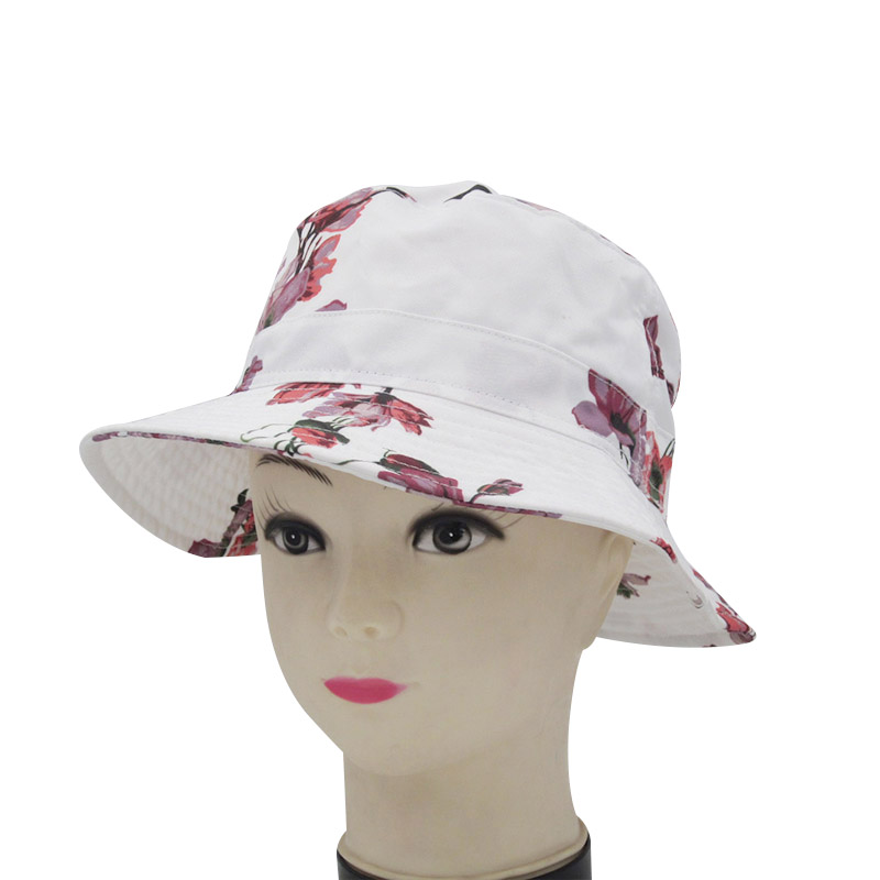 2019 Summer Newest Fashion Brand Casual Sun Hat Beach Party Print Flower Pot Cap Cotton Novelty High Quality Foldable Sun Hat in Women 39 s Sun Hats from Apparel Accessories
