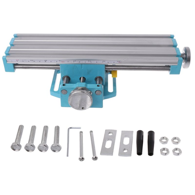 Mini Precision Milling Machine Vise Multifunctional Table Assisted Bench Boring Positioning Cross Adjustment Bench Drill