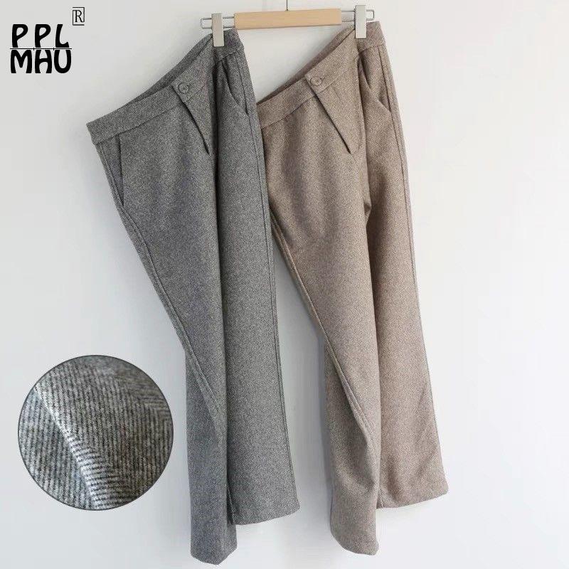 Women's Casual High Waist Harem Pants Winter Fashion Loose Length Trousers Female Classic Large Size  Pine Radish Pants Suit