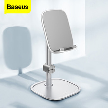 Baseus Metal Phone Stand Holder For iPhone Xiaomi Huawei Adjustable Desk Mobile Phone Holder Stand for iPad Air Samsung Tablets