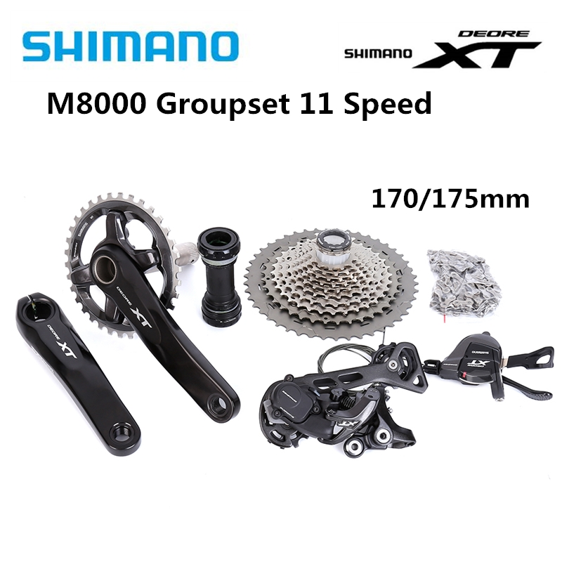 Shimano Deore XT M8000 11 speed 170mm 30T <font><b>32T</b></font> 34T Drivetrain bike bicycle mtb Group set Groupset 1x11s image