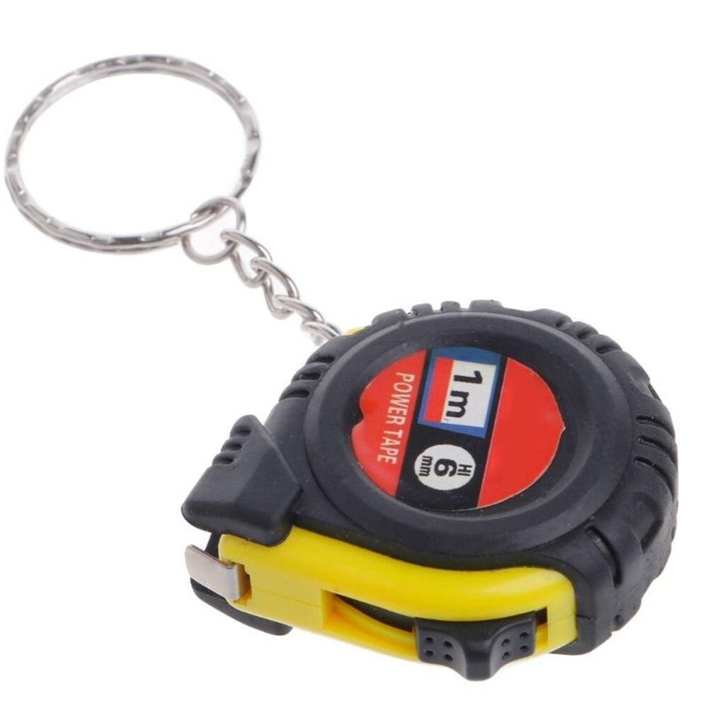 Retractable Ruler Tape Measure Keychain Mini Pocket Size Metric 1m Key Chains Key Rings