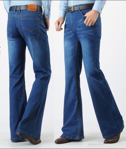 Spring Men Jeans Vintage Flare Jeans Flared Pants Long
