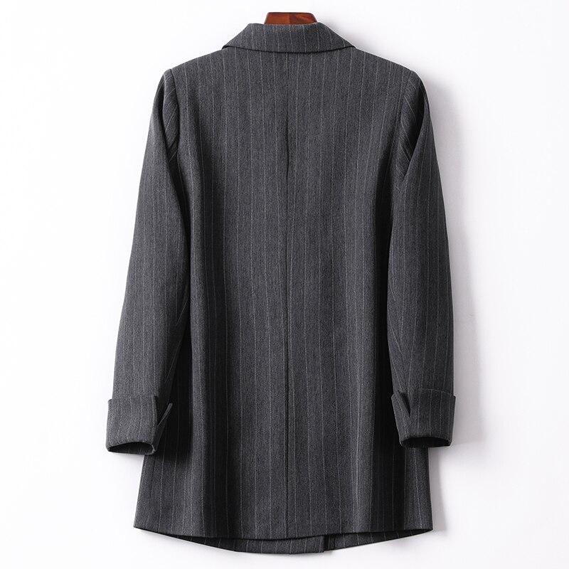 Stripe Loose Ladies Blazer Black Casual Vintage Suit Jacket Stylish Blazer Dames Korean Office Women Blazer Spring New MM60NXZ