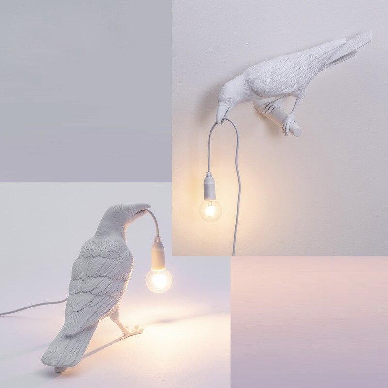 Italian Seletti Bird Led Wall Lamp Art Decor Home Bird Wall Scocnes Seletti Bird Living Lamp