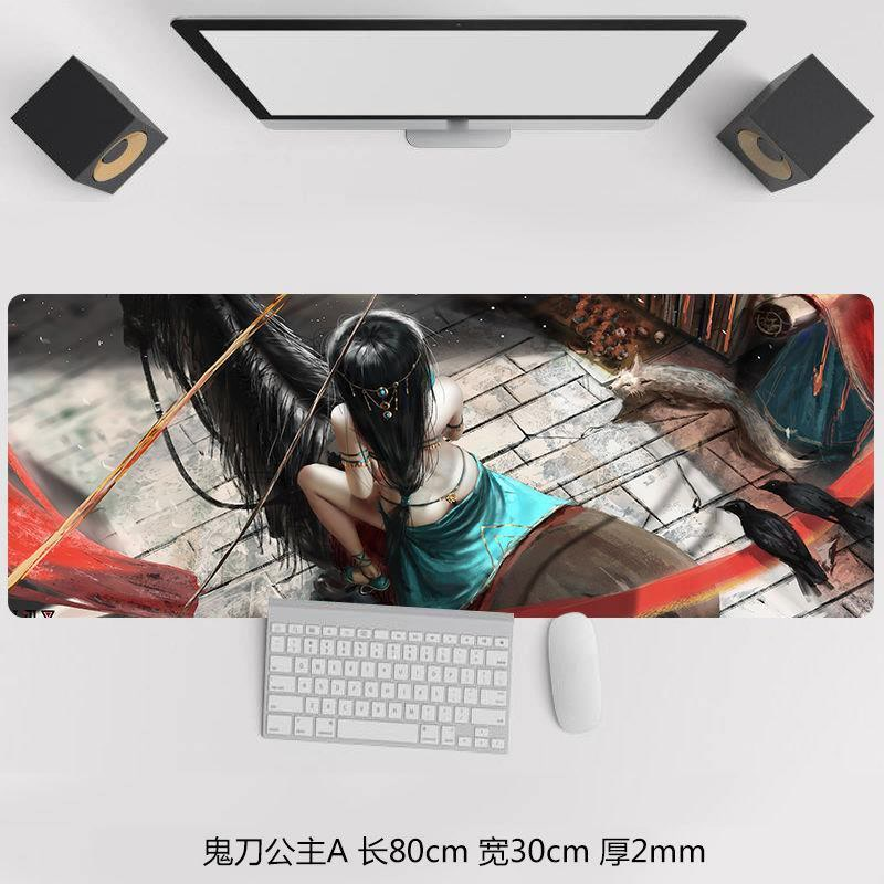 80x30cm Anime Girl Mouse Pad 3d Pad To Mouse Notbook Computer Mousepad Pc Gaming Padmouse Gamer Laptop Mouse Mats