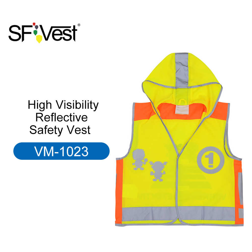 SFVest wysoka widoczność dzieci odblaskowa kamizelka bezpieczeństwa przedszkole odblaskowy płaszcz odzież ochronna odblaskowe ubrania kamizelki