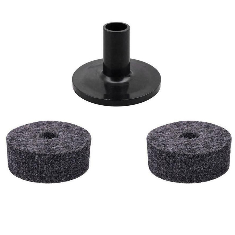 3pcs/set Accessories Replacement Non Slip Tools Drum Cymbal Felt Pads Sleeves Professional Musical Instrument Casing Pipe Round