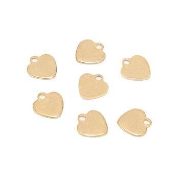 20 sztuk 9x10mm ze stali nierdzewnej złote serce księżyc wisiorek wisiorek do majsterkowania i tworzenia biżuterii ustalenia akcesoria