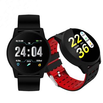 Elektronika inteligentny zegarek sportowy mężczyźni tętno pomiar ciśnienia krwi Bluetooth inteligentna bransoletka Smartwatch dla androida IOS tanie i dobre opinie OUTMIX Android OS Na nadgarstku Wszystko kompatybilny 128 MB Passometer Fitness tracker Uśpienia tracker Wiadomość przypomnienie