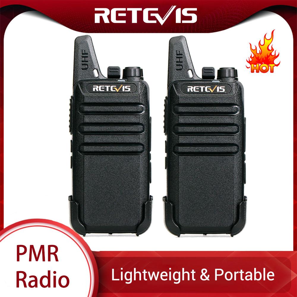 Retevis Transceiver Walkie-Talkie Pmr Radio Mini PMR446 Portable RT22 Two-Way-Radio UHF
