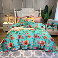 Luxury 600TC egyptian cotton bedding set Queen King Bed cover Bedsheet Duvet Cover pillowcase Bed set parure de lit
