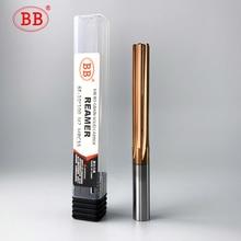 цена на BB Carbide Machine Reamer Coated Straight Flute H7 Tolerance Chucking Hardened Steel Metal Cutter 6 Flutes CNC
