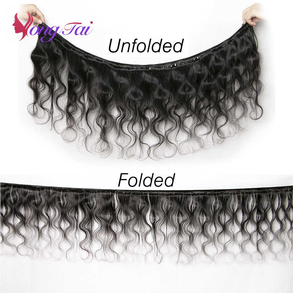 YuYongtai hair Brazilian Body wave Human Hair Non-Remy Human hair weaving Customized 8-30 Inches M 1B 100% Human Hair