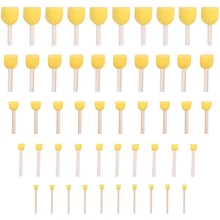 50 Round Foam Sponge Brushes, Suitable for Children's Crafts, Molds, Paintings, Painting