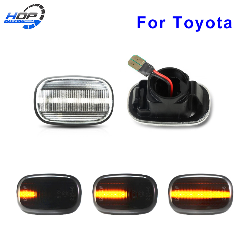 2x Dynamic Side Marker Turn Signal Light Led For For Lexus GS RX Toyota Vios Hilux Corolla RAV4 Prius Yaris Camry Avensis Celi(China)