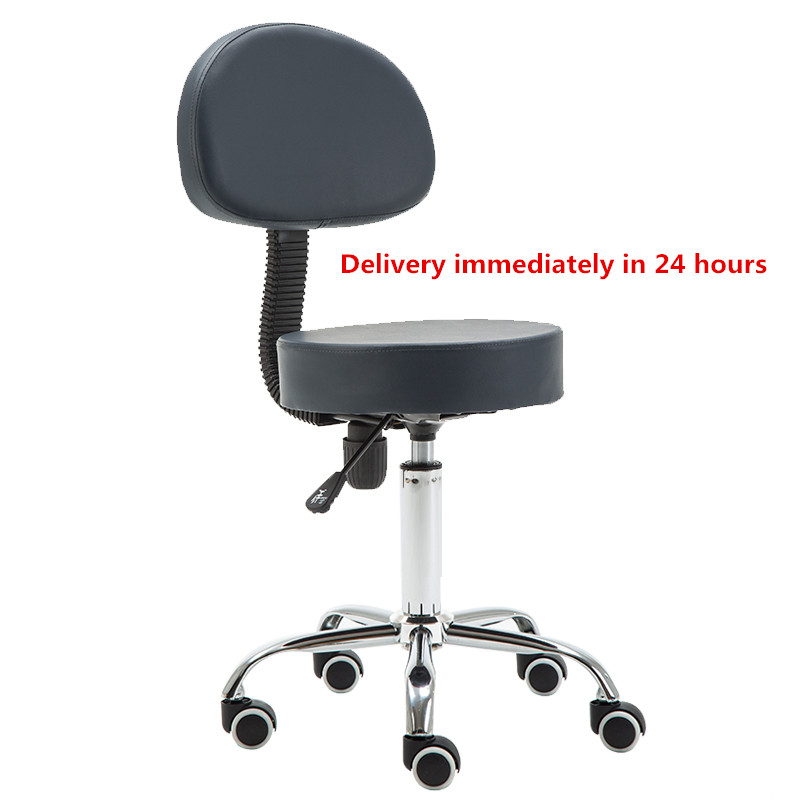 Modern Adjustable Swivel Hydraulic Multipurpose Massage/ Medical/ Drafting Stool Chair With Backrest Rolling Massage Stool Chair