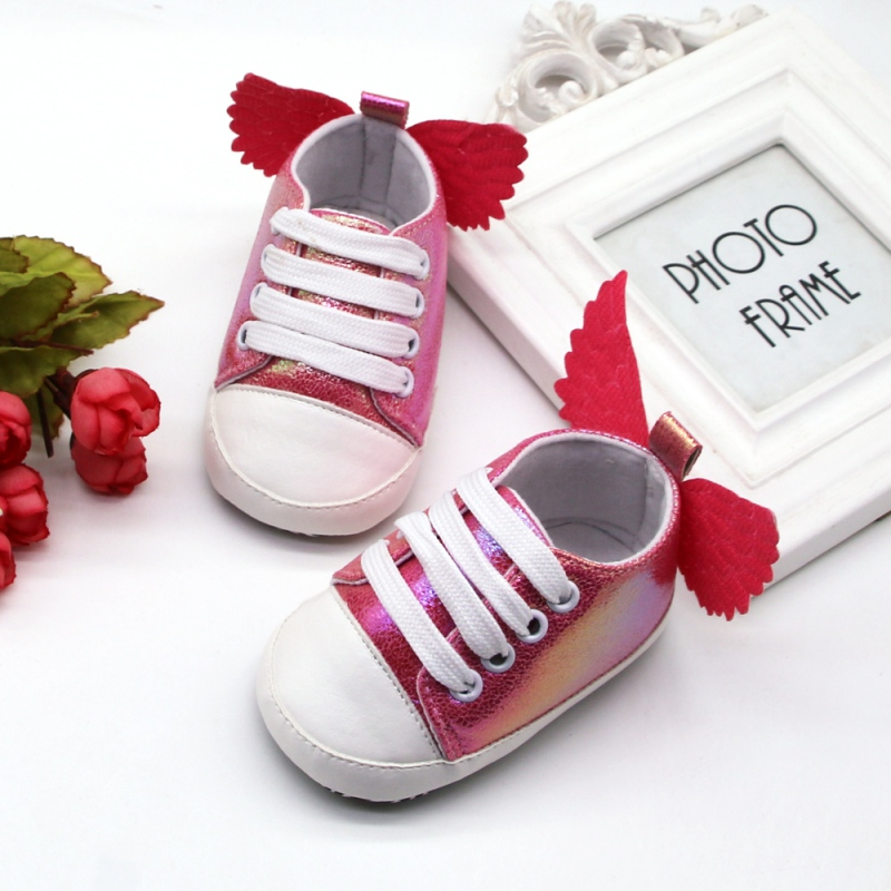 Autumn Baby Girl Shoes Casual Walking Shoes Wings Design Sneakers Soft Soled First Walkers