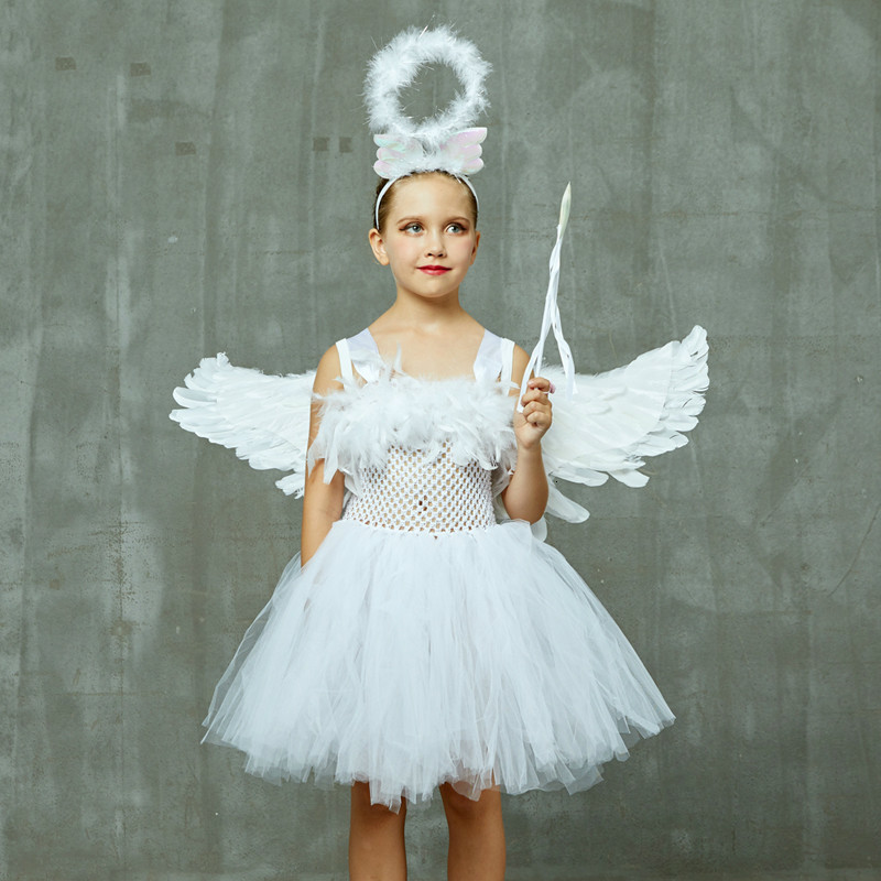 WHITE FEATHER ANGEL WINGS FAIRY FANCY DRESS COSTUME ACCESSORY LARGE 55CM X 50CM