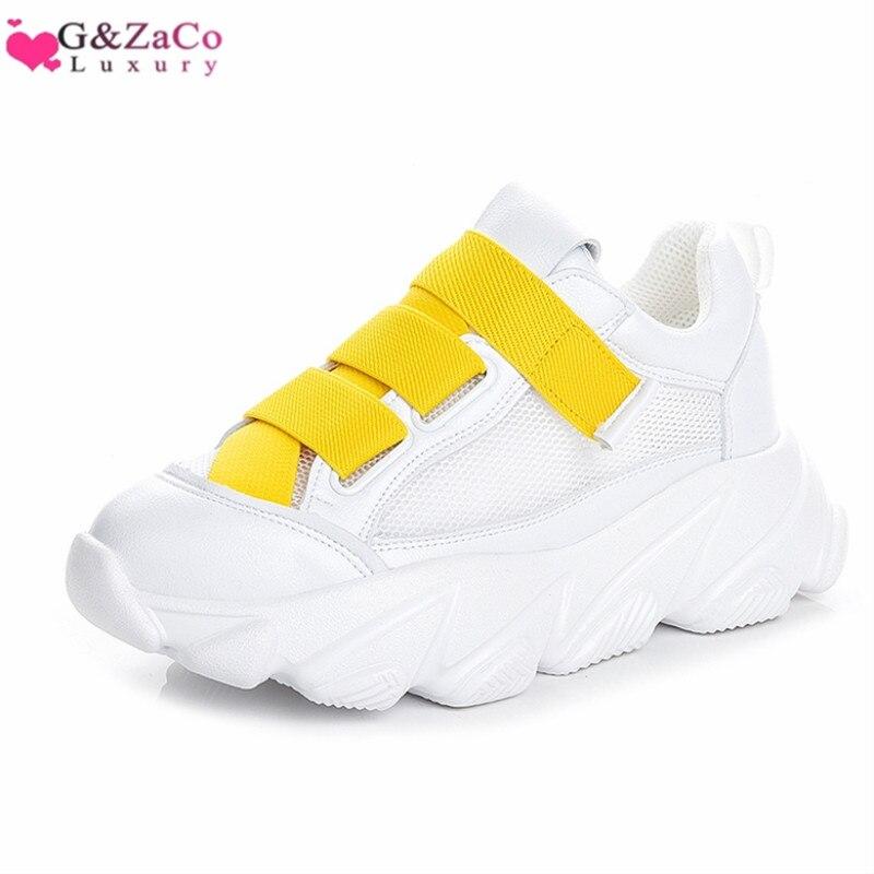 ของแท้หนังฤดูร้อนใหม่ผู้หญิงแพลตฟอร์มรองเท้า chunky รองเท้าผ้าใบ designer รองเท้าผ้าใบรองเท้าตาข่ายสีขาว causal สุภาพสตรีเดินรองเท้า-ใน รองเท้ายางวัลคาไนซ์สำหรับสตรี จาก รองเท้า บน AliExpress - 11.11_สิบเอ็ด สิบเอ็ดวันคนโสด 1