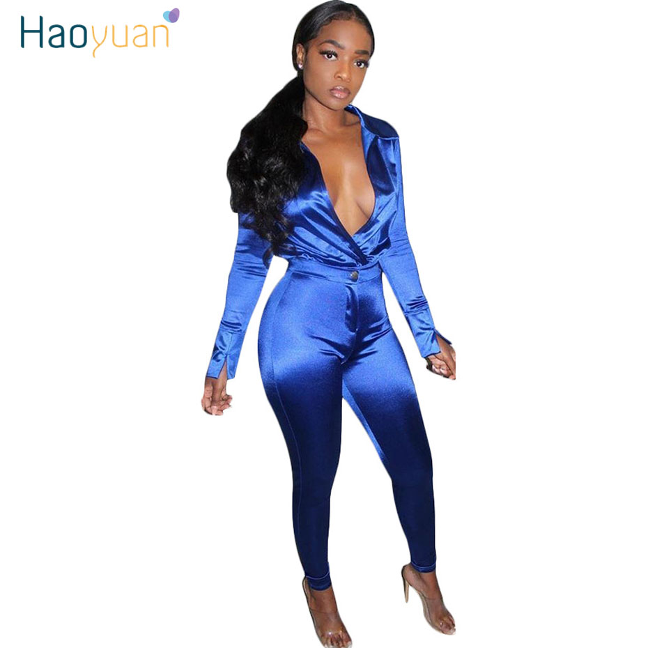 ZOOEFFBB Silk Satin Two Piece Set Birthday Outfits For Women Festival Clothes Long Sleeve Top Pant Suits Sexy Club Matching Sets