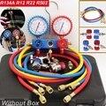 R134A R12 R22 R502 делитель тока Измерительные инструменты набор охладителей Кондиционер AC диагностический манометров двойной TableValve