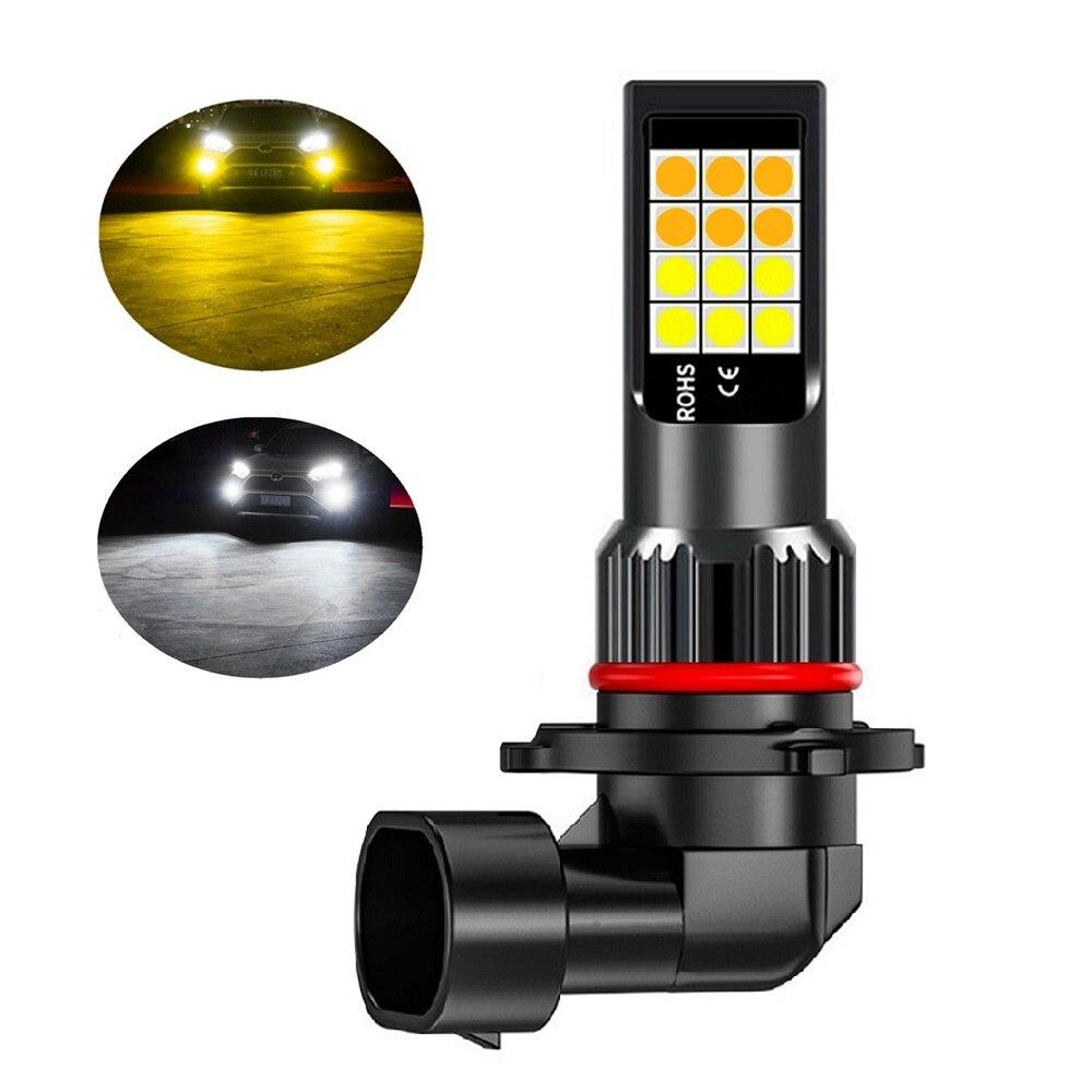 1 шт. двойной Цвета H11 H8 9006 HB4 881 H27 высокое качество 3030 светодиодный Авто противотуманных фар автомобиля анти туман светильник лампа противотуманных фар цвет: желтый, белый|Передние LED-фары для авто|   | АлиЭкспресс