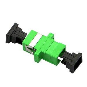 Image 5 - 100pcs SC APC Adattatore SM Ottica Flangia di Attacco Simplex SC Fibra Ottica Connettore e Accoppiatore In Fibra Ottica Ftth SC adattatore