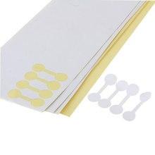 Atacado 400 pçs/lote moda em branco redondo jóias tag preço bonito etiqueta de exibição etiqueta auto-adesivo ferramenta anel de papel jóias tags