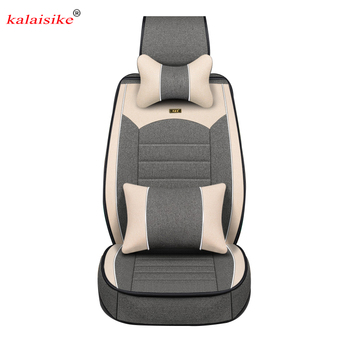 Kalaisike Flax Universal Car Seat covers for MG all models MG7 MG5 MG6 MG3 ZS automobiles styling car accessories auto Cushion