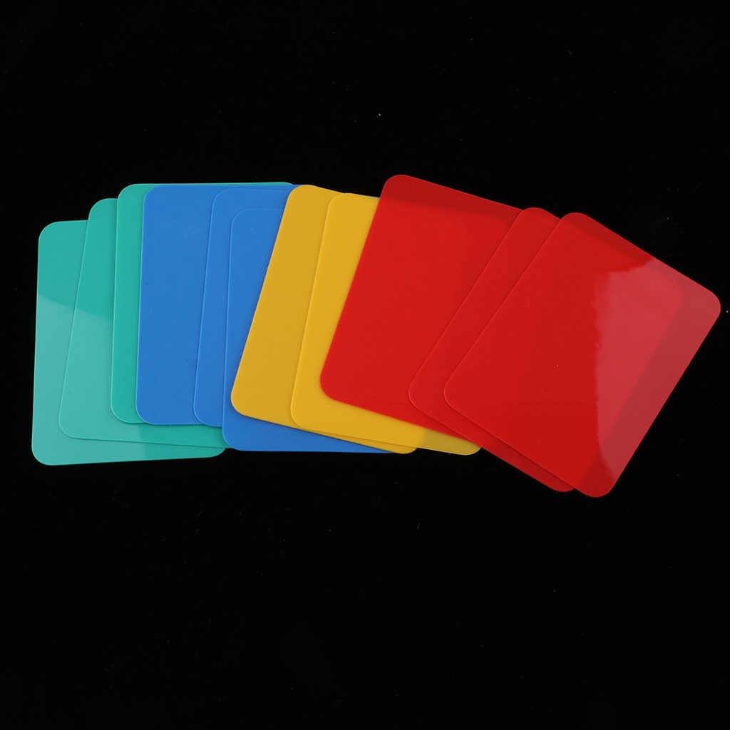 12 peças Tamanho Cortar Cartões de Poker do Poker Casino Blackjack Jogo Adereços Pub Clube de Campismo