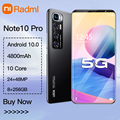 """Radmi Note 10 pro Smartphone Android 10 128 gb Smart Phones Unlocked 5g 6.1""""4800 Battery 8+13MP Camera Global Version Cell Phone"""