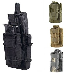 Molle Pouch Tactical Single Open Top Double Layer Rifle Pistol Mag Pouch Military Army Hunting Magazine Pouch for M4 M14 AK(China)