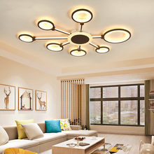2019 New ceiling light with remote control home lighting Simple Aluminum Lamp body Acrylic +Silica gel lampshade AC85-265V LED Chip led ceiling light white light warm light Living room/bedroom/children's room(China)