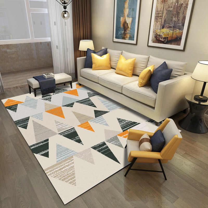 Современные Геометрические ковры для гостиной, спальни, спальни, кровати, большой мягкий ковер для учебы