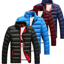 Man's Jackets And Coats Winter Bran Boys Men Warm Stand Collar Slim Winter Zip Coat Outwear Jacket Men's Windbreaker Jackets все цены