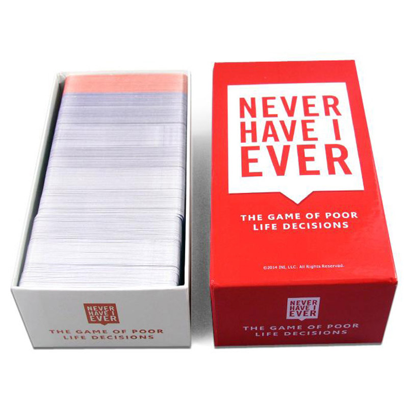 550 Cards Never Have Deluxe Box Mega Set Board Game I Ever Bar Night Club KTV Party Drink Table Game Toy Gift For Grownup