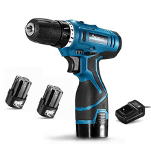 Electric Cordless Screwdriver Drill Rechargeable 2 Battery Lithium Multi-function Household Screwdrivers Power Screw Driver Tool