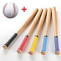 53cm 63cm 73cm Gute Qualität massivholz Baseball Bat Hartholz Baseball-Stick Im Freien Sport Fitness Ausrüstung mit ein Ball