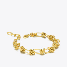 ENFASHION Weave Knot Bracelet For Women Gold Color Stainless Steel Link Chain Bracelets 2020 Gift Fashion Jewelry Pulseras B2186