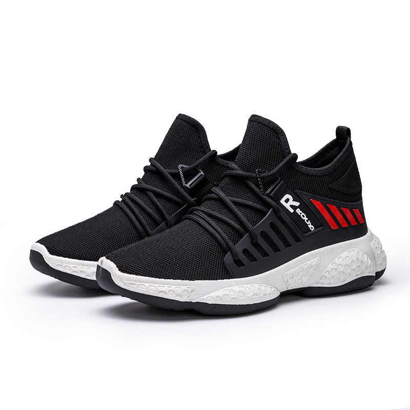 Erkek ayakkabısı ayakkabı düz erkek rahat ayakkabılar rahat erkek ayakkabı nefes örgü spor ayakkabılar Tzapatos De Hombre