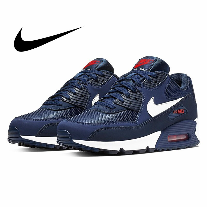 Original Authentic NIKE AIR MAX 90 ESSENTIAL Men's Running Shoes Fashion Classic Outdoor Sports Shoes Breathable AJ1285-403 New