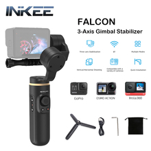 INKEE FALCON 3-Axis Action Camera Handheld Gimbal Stabilizer Anti-Shake Wireless Control for GoPro Hero 9 8/7/6/5 OSMO Insta360