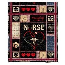 Флисовое одеяло с 3d принтом для медсестер носимые одеяла взрослых