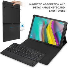 For Samsung Galaxy Tab S5e 10.5 Tablet Cover Touch Bluetooth Keyboard + Leather Protective Case Magnetic And Detachable Keyboard стоимость