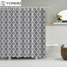 Водонепроницаемые занавески для душа для ванной комнаты, домашний декор, полиэфирная ткань, занавески для душа с геометрическим узором, разные размеры, занавески для душа