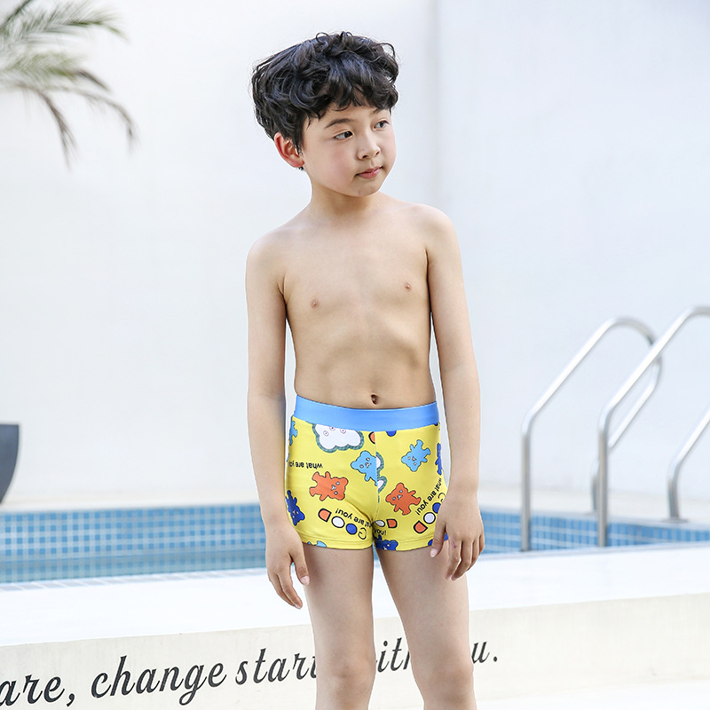 Sharp Swam 2018 New Style Hot Sales BOY'S Swimming Trunks Cartoon Bear Pattern BOY'S AussieBum